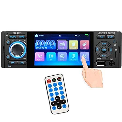 GOFORJUMP Radio de Coche 1 DIN JSD-3001 Radio de Coche Pantalla táctil de 4 Pulgadas Auto Audio Vínculo Espejo estéreo Bluetooth USB AUX Player