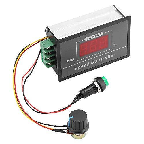 IWILCS Regulador de velocidad de motor DC 6 – 60 V 12 V 24 V 36 V 48 V 30 A PWM DC Display motor, regulador de velocidad ajustable sin niveles con interruptor Start Stop