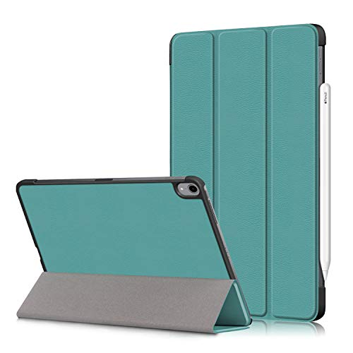 New iPad 10.8 2020/iPad Air 4 Tablet Cover,Heavy Duty Cover PU Leather Case with Protection with Auto Wake Up/Sleep Lightweight Shell for New iPad 10.8'/iPad Air 4th Generation Tablet PC (green)