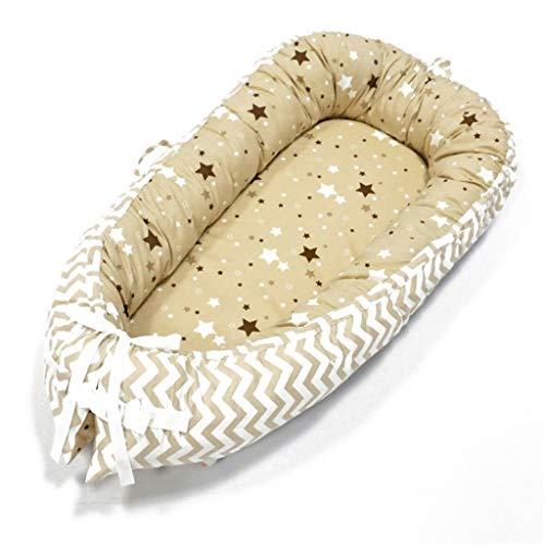 Recién Nacidos Bebé Haragán Portátil Nido Suave Respirable 100% Algodón por 0-18 Meses Habitación Viaje Bed1030 (Color : C)