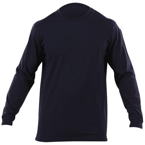 5.11 Tee-Shirt Tactique Professionnel à Manches Longues, Bleu Marine, Taille XS