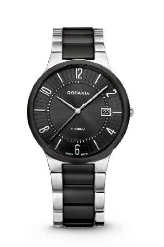 Rodania Swiss Herren-Armbanduhr Mystery Analog Keramik Schwarz RS2508396