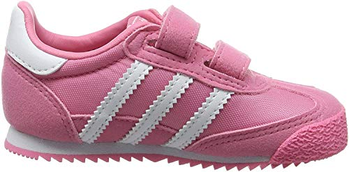 adidas Unisex-Kinder Dragon OG Trainer Low, Pink (Easy Pink/FTWR White/Easy Pink), 35 EU