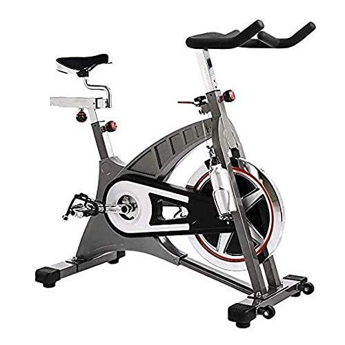 WGFGXQ Bicicleta estática de Interior, cinturón de Bicicleta de Ejercicios para el hogar, transmisión bidireccional, con Volante de 20 kg con Freno electromagnético Ajustable en Altura, Adecuado pa