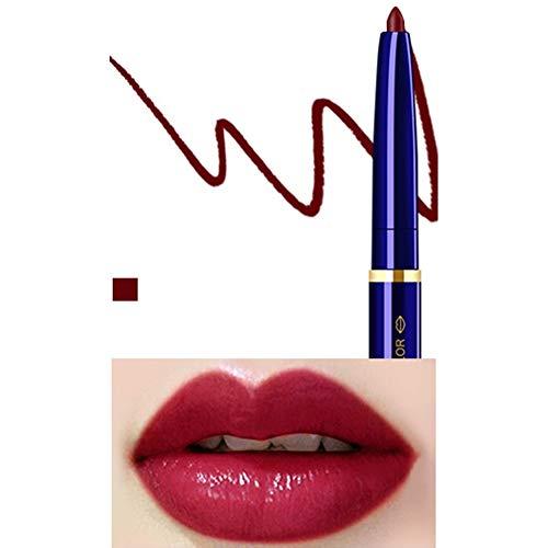 Yiwa Double Tête Cosmétique Professionnel Lipliner Imperméable Dame Charme Lèvres Lèvres Doux Crayon Contour Rouge À Lèvres 05#