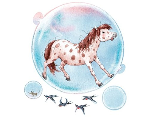 Apalis Sticker Mural Soap Bubble Pony, Tatouage Mural, Tatouages muraux, Sticker Mural