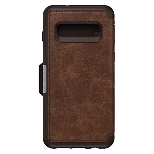 OtterBox Strada Etui Folio en Cuir véritable pour Samsung S10 Marron