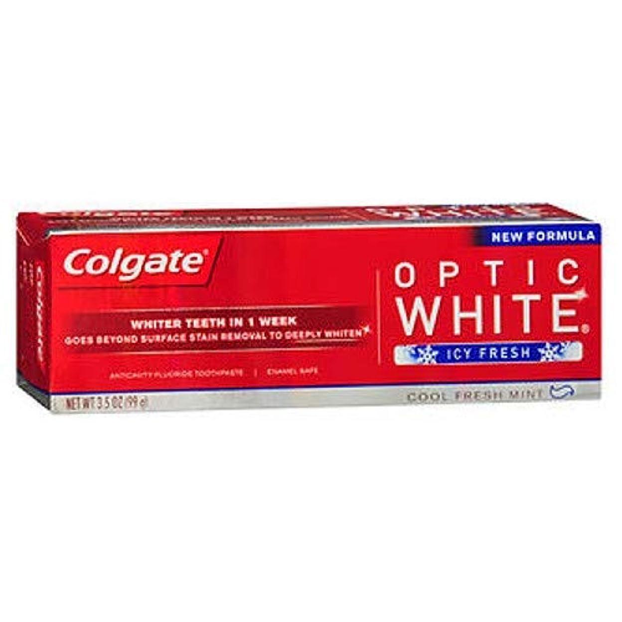 ポスターお賞Colgate Optic White コルゲート Icy Fresh アドバンス ホワイトニング 99g