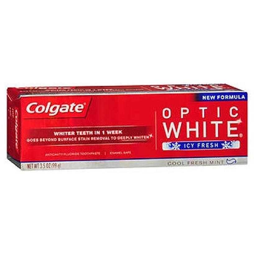 窓家畜慢性的Colgate Optic White Icy Fresh by Colgate Optic White