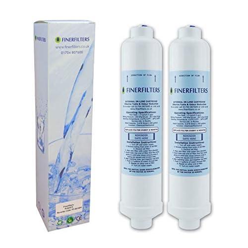 2 x filtro dell'acqua per frigorifero compatibile con SAMSUNG, LG, Bosch, Daewoo GE Beko, alta qualità