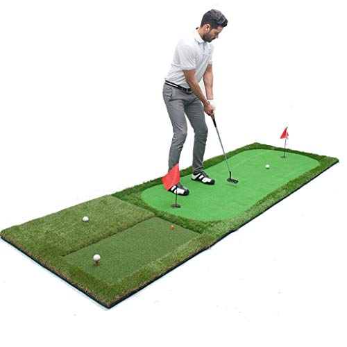 Find Discount JKLL Golf Putting Green System Professional Practice Green Long Challenging Putter Ind...