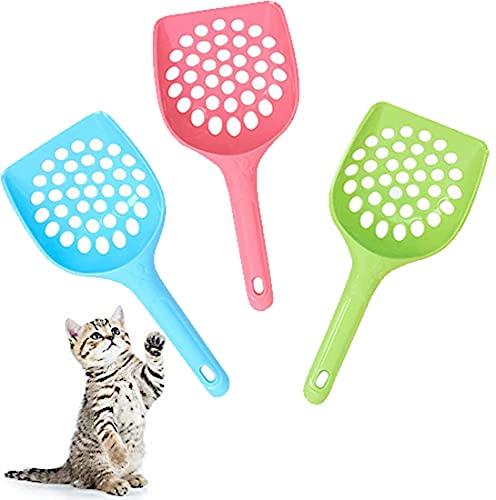 Da. WA 3 Pièces Pelle à Litière pour Chat Animal domestique bac à litière pour chat Pelle Pelle de chien Récupérateur de déjections S Animal propre les Fournitures de nettoyage (petit trou)