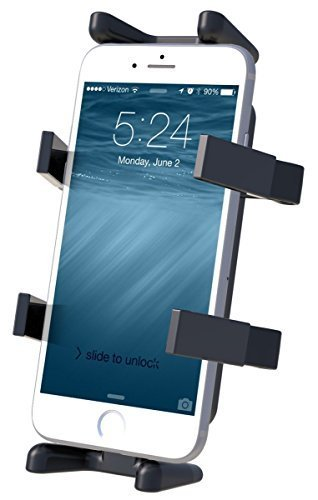 Dane-Elec RAM-HOL-UN4U Universal Negro - Soporte (Teléfono móvil/Smartphone, Radio bidireccional, Universal, Negro, Blackberry, HTC EVO, Droid X, iPhone, 88,9 mm, 40,6 mm)