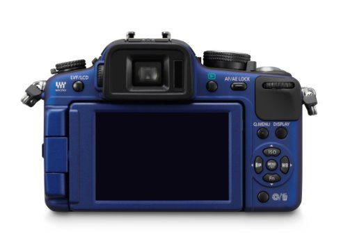Panasonic Lumix DMC-G2KEG-A Systemkamera (12 Megapixel, LiveView) Gehäuse blau inkl. Lumix G Vario Objektiv (14-42 mm)