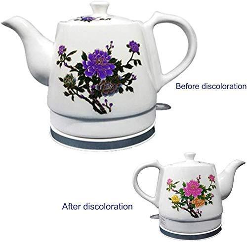 Bouilloires en céramique bouilloire électrique sans fil eau Teapot, Teapot-Retro Jug, 1000W rapide (Taille: 1 L) 8bayfa (Size : 1.2L)