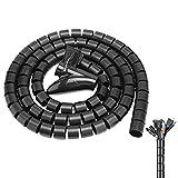 2021 Nueva Actualización Fundas Ordenadas Para Cables, Tubo De Cable Con Envoltura En Espiral Antipolvo Kit De Cubierta De Acabado De Cable De Datos Adaptable Con Clip De Guía (black)