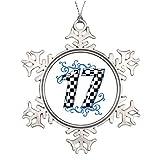 Yilooom Árbol Rama Decoración Racing Número 17 Belleza y la Bestia Copo de Nieve Adornos Árbol Decoración
