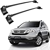 Car Roof Rack Fit For Compatible With Honda CRV 2007 2008 2009 2010 2011 Aluminum Maximum Capacity 150lbs Cargo Bars Crossbars Luggage Rack Carry Bike Bicycle Snowboard Surfboard Canoe Luggage (1)