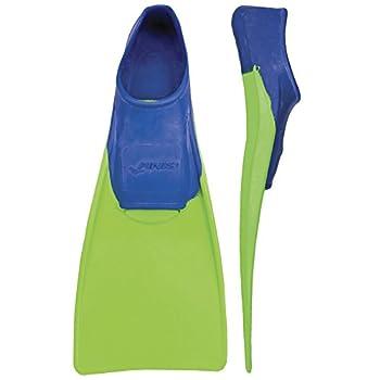 FINIS Long Floating Fins  Blue/Lime Green XXXS  Jr 8-11