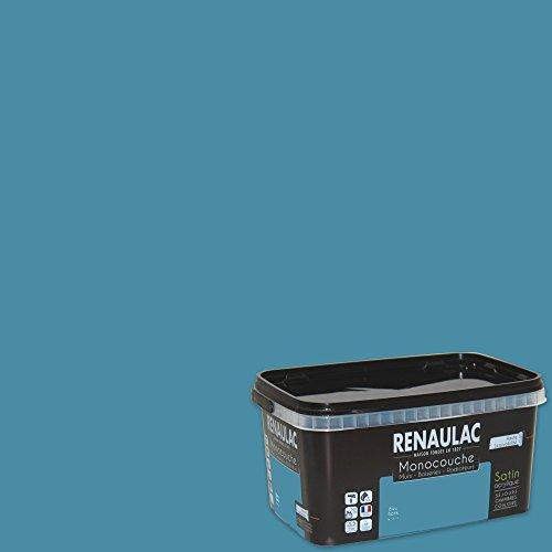 Renaulac Peinture monocouche multisupports Bleu Batik Satin 2,5L - 25m²