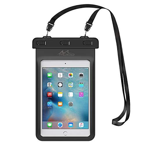 MoKo Funda Impermeable - Universal Waterproof para iPad Mini 2019 / iPad Mini 4 3 2 1/ Nexus 7/ G Pad 7.0/8.0/8.3/ Venue 7.0/8.0/8.0 Pro, Lenovo Tab A7 y Tableta 8.4 Pulgadas - Negro