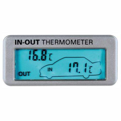 Lampa 86316 - Termómetro para medición de temperatura interior y exterior (pantalla iluminada en azul, 12/24V)