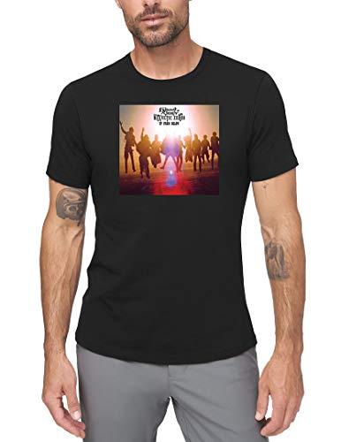 SHICHUOU Men's Edward Sharpe & The Magnetic Zeros Home Short Sleeve Classic T Shirt Black Large