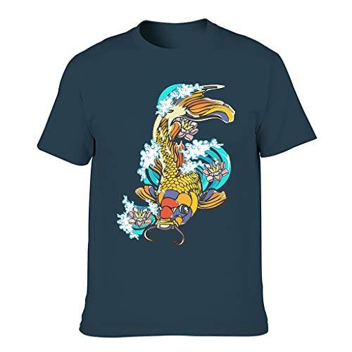 Herren Lucky Koi Baumwolle T-Shirt -...