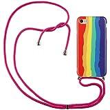 ShinyCase Funda con Cuerda para iPhone6 Plus/iPhone6s Plus Color TPU Funda de Silicona con Cinta con...