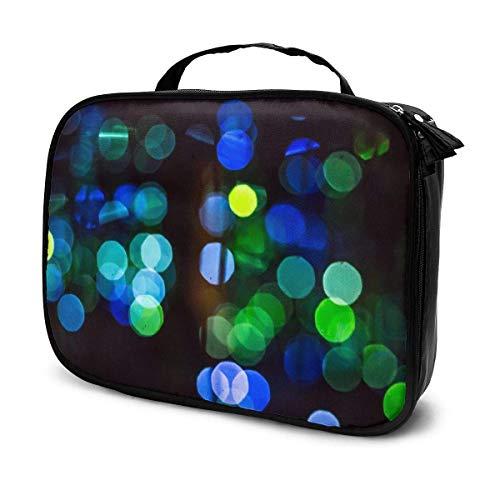 Bolsa organizadora de maquillaje para acuario con múltiples medusas y divisores extraíbles de gran capacidad, bolsa de almacenamiento multiusos, regalo para niñas y mujeres