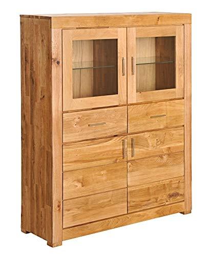 Main Möbel Highboard 111x139cm 'Verona' schmal Wildeiche geölt