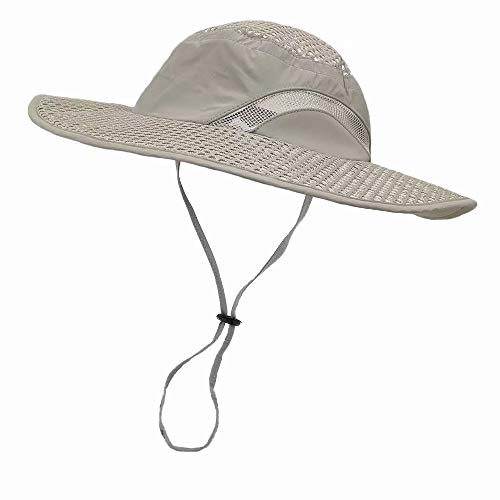 LETHMIK Sunscreen Cooling Hat, Heatstroke Protection Cap, Mens & Womens Wide Brim Boonie Hat for Fishing, Hiking, Camping, Gardening Light Green