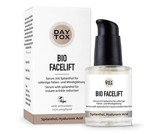 DAYTOX - Bio Facelift - Serum zur Falten- und Mimik Glättung mit Spilanthol- Vegan, ohne Farbstoffe, Silikone und Parabene - 1 x 30 ml