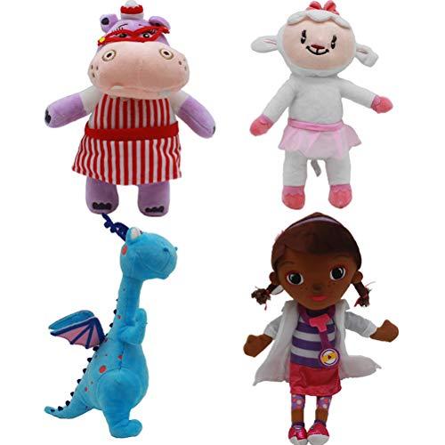 EASTVAPS 4pcs Docteur Doc Mcstuffins poupée Peluche Docteur Maiden Petite Laine Velours Jouet Fille