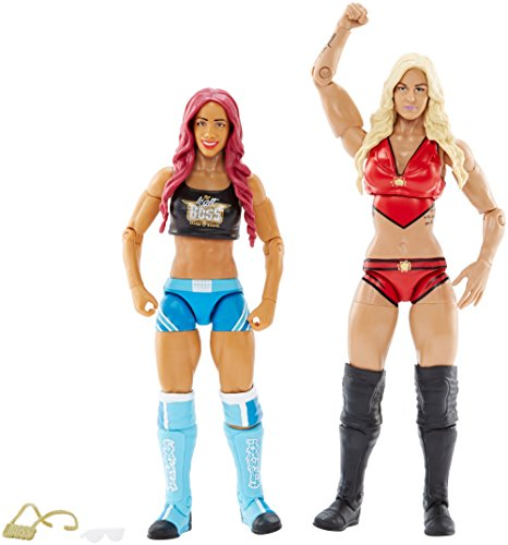 WWE Superstars Sasha Bancos y Charlotte Figura de acción (2Unidades)