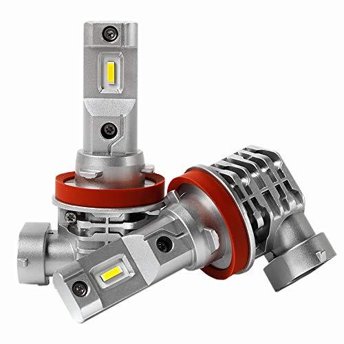 H11 LED ヘッドライト 一体型 ファンレス H8 H9 H16 H11兼用 LED バルブ CREEチップ搭載 6500K ホワイト 車検対応 DC9V-32V 2個入
