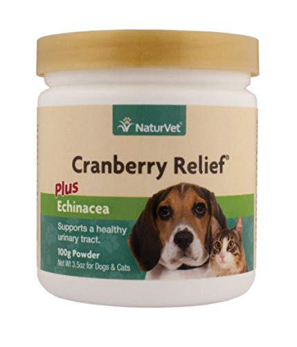 NaturVet Cranberry Relief, 100 Gram Powder, Dog and Cat Health Supplements for Urinary Tract