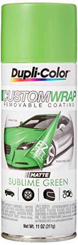 Dupli-Color ECWRC8037 Custom Wrap Matte Sublime Green Aerosol
