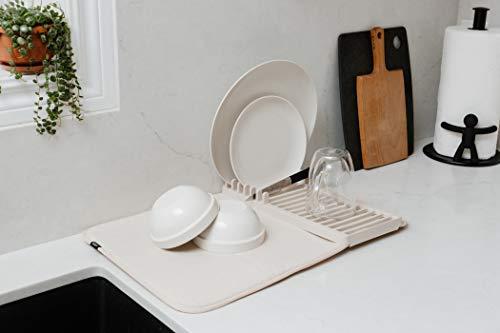 umbra水切りマットドライングマットキッチンお皿立て付きチャコール51x33cmUDRYMINI21004301149
