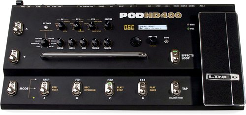 Line 6 POD HD 400 Multi-Effects Floorboard Unit - 90 Effects - Up To 4 Simultaneous Fx