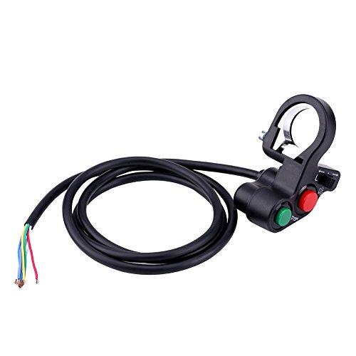 Interruptor del Manillar de la Moto, Conmutador de Luces Moto, Botón de ON/OFF, Bocina, Intermitente