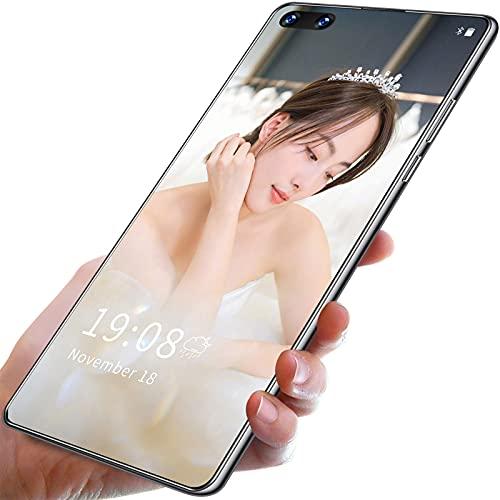YouthRM Teléfonos Inteligentes Android 10.0 Desbloqueados Mate40 RS + 5600mah 10-Core 7.1 Pulgadas HD + 1440 * 3040, 5G, 12GB RAM 512GB ROM, 24MP + 48MP (Tarjeta de Memoria de 128G de Cortesía),White
