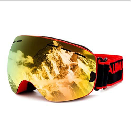 Skibrille Skibrille Brillenträger Zweischichtige Winddichte Sandschutzfolie gegen UV-Strahlung