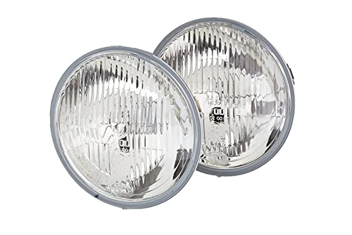HELLA 1L6 002 395-842 Halogène-Kit de projecteurs principaux - 12V - plat - Chiffre de référence: 12.5 - Montage en saillie/Montage encastré - gauche - Kit - Quantité: 2