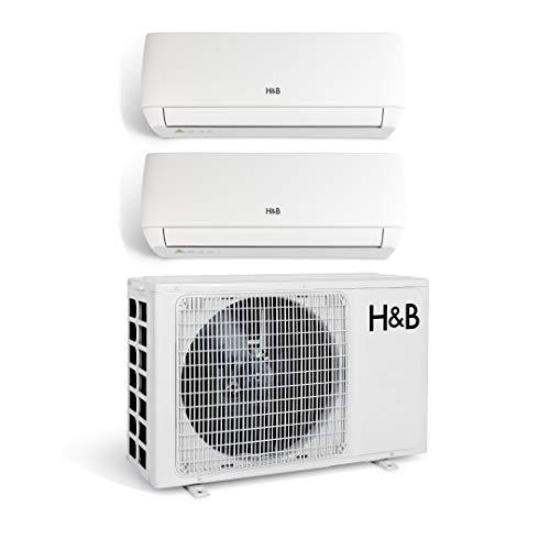 Climatiseur Bi-split réversible froid/chaud - 2550W + 3550W - 21000BTU