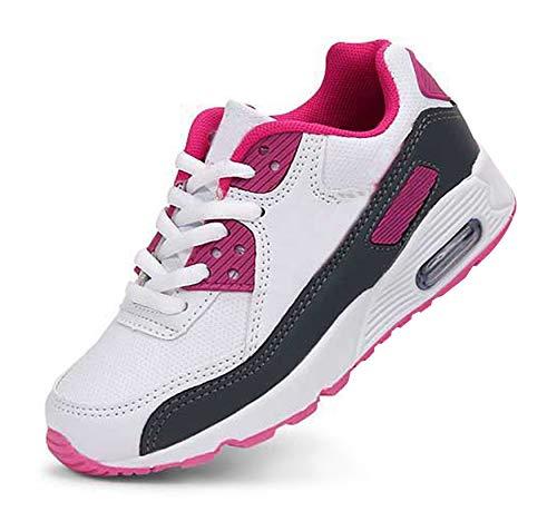 Daclay Kinder Schuhe Jungen Mädchen Turnschuhe Laufschuhe Sneaker Outdoor für Unisex-Kinder (27 EU, Weiß/Pink)