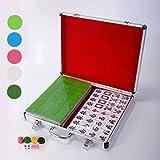 Boutique Mahjong Set,Ausgewählte Hohe Qualität Und Gesunde Acrylproduktion, Eine Vielzahl Von Arten, Reiseset Mahjongg Majiang Mah Jongg Sets Majong Brettspiel,hardcoverDarkgreen,XXXL -