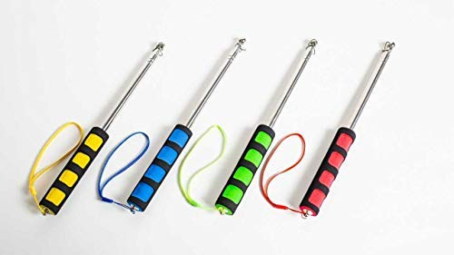 The Social Stick - 6 Feet Of Social Distance (Family Pack) (1 of Each Color - 4 Total) | The Ultimate 6 Foot Social Distancing Tool | Extends to 6 Feet, Collapses to 11 inches