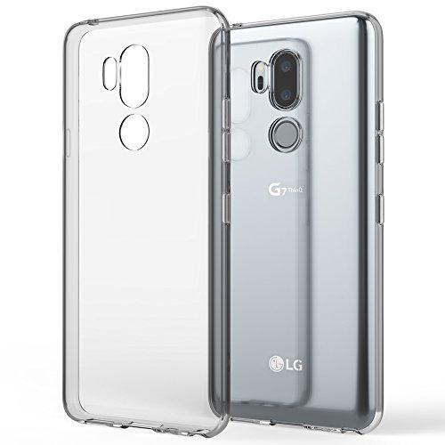 NALIA Funda Carcasa Compatible con LG G7 ThinQ, Protectora Movil Silicona Ultra-Fina Gel Cubierta Estuche, Goma Telefono Bumper Phone Cover Cobertura Delgado Claro Case Cristal Clear - Transparente