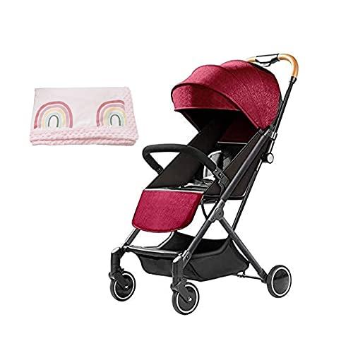 TOKUJN Coche Multifuncional, Coche portátil para niños, Autos Ligeros para niños con un automóvil Plegable Compacto, carruaje de Cochecito de Lujo